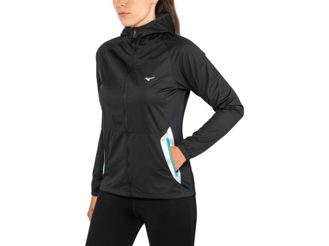 Mizuno Static BT Softshell Hoodie Damen black/black